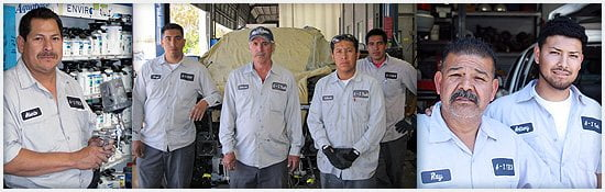 Body Shop Technicians (left to right): Alberto, our head painter, has 25 years experience. The Gaytan Family has more than 60 years combined experience. The Reyes Family has over 45 years combined experience.